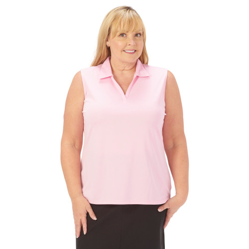 Nancy Lopez Golf: Women's Sleeveless Plus Polo - Legacy