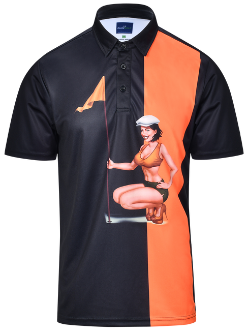 Pin High Mens Pin-Up Golf Polo Shirt by ReadyGOLF