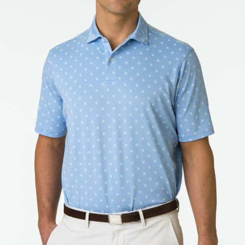 Fairway & Greene: Men's USA The Steering Print Pique Polo