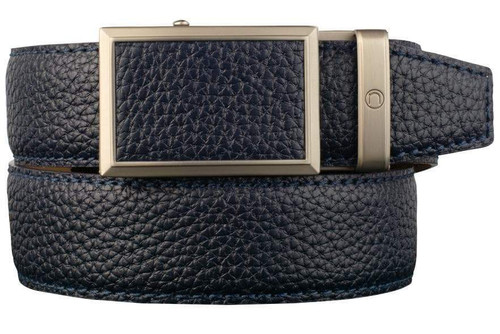 Nexbelt: Men's Go-In Pebble Grain V.4 Belt - Deep Sea Navy