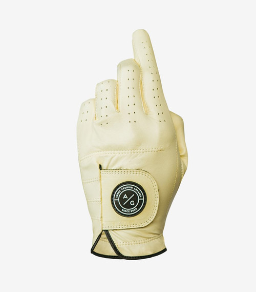 Asher Golf: Men's Premium Spring Collection Golf Glove - Canary