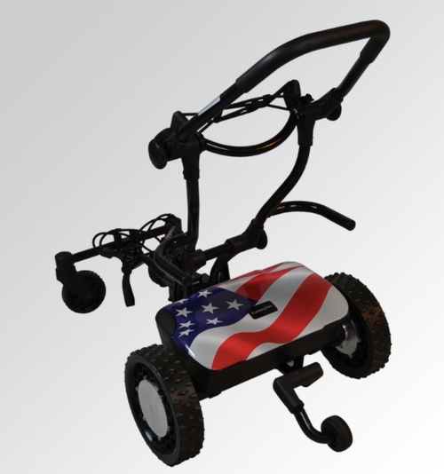 """CaddyTrek: R2 """"Stars and Stripes"""" Electric Golf Cart ***SHIP DATE MID JULY***"""