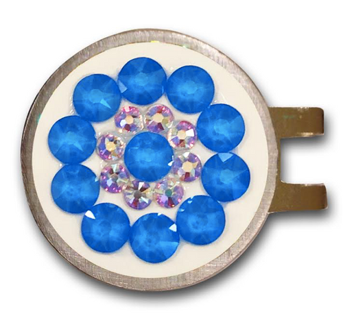 Blingo Ball Markers: Electric Blue on White