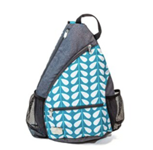 Sassy Caddy: Sling or Pickle Ball Bag - Baltic