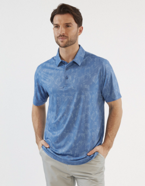 Chase 54: Men's Short Sleeve Polo - Frond
