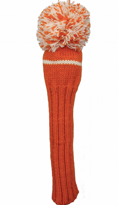 Sunfish: Hand-Knit Classic Headcovers - Driver (Orange and White) SALE