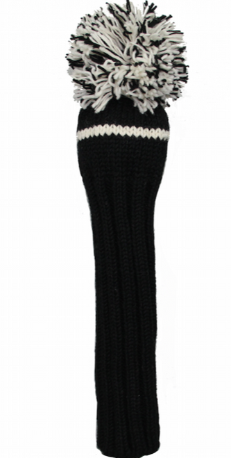 Sunfish: Hand-Knit Classic Headcovers - Driver (Black and White) SALE