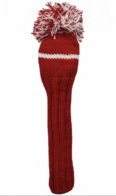 Sunfish: Hand-Knit Classic Headcovers - Driver (Red and White) SALE