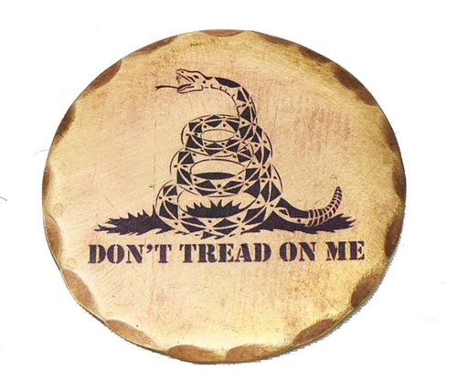 Sunfish: Copper Ball Marker - Don't Tread On Me Gagsden Flag