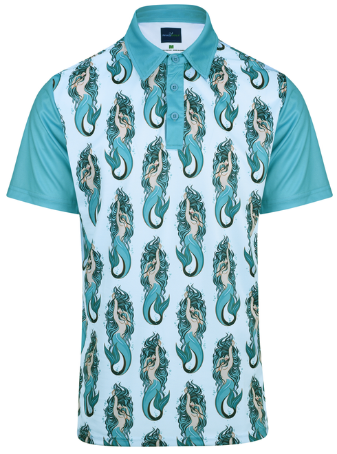 Mermaids Mens Golf Polo Shirt by ReadyGOLF