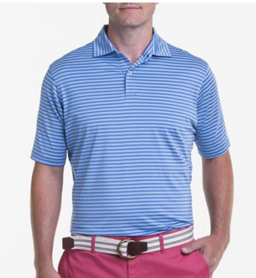 Fairway & Greene: USA Mini Rep Stripe Jersey Polo