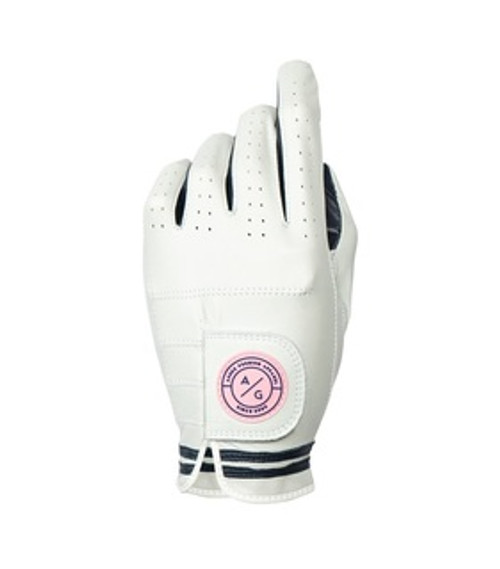 Asher Golf: Ladies Premium Golf Glove - Navy Stripe