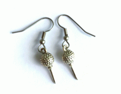One Putt Designs - Pewter Golf Ball and Tee Earrings
