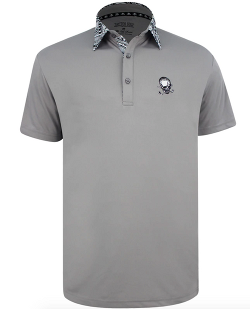 Tattoo Golf: Men's VIP ProCool Golf Shirt - Grey