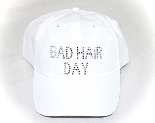 Dolly Mama Ladies Baseball Hat - Bad Hair Day on White