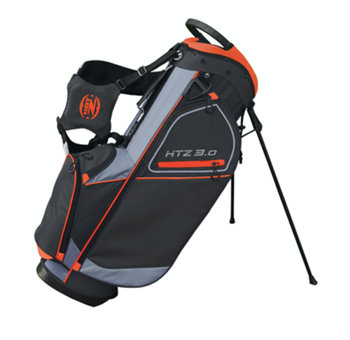 Hot-Z Golf: 3.0 Stand Bag - Black/Orange/Gray