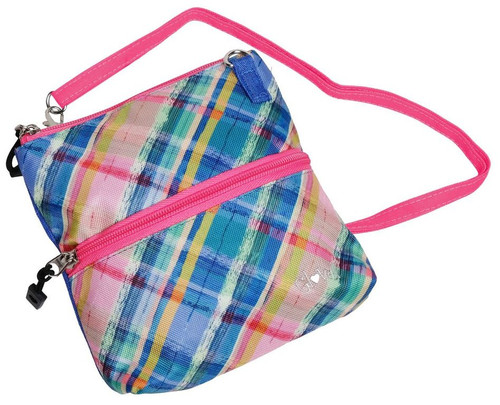 Glove It: 2 Zip Carry All Bag - Plaid Sorbet