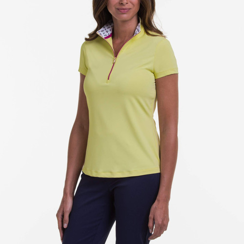 Fairway & Greene: Women's Ella Zip Mock Polo