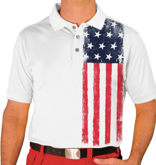 Golf Knickers: Men's Homeland Golf Shirt - United States