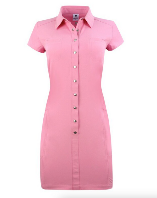 Daily Sports: Women's Lyric Short Sleeve Dress - Lipstick Pink