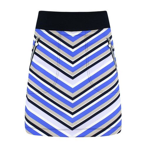 "Daily Sports: Women's Nelly Stripe Pull On Skort 18""- Royal Blue"