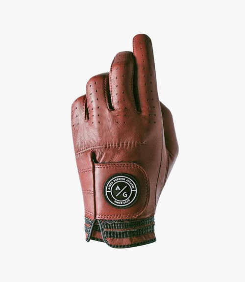 Asher Golf: Mens Premium Golf Glove - Oxblood