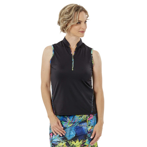 Nancy Lopez Golf: Women's Sleeveless Polo - Relax