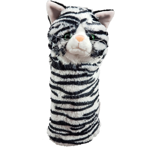 Daphne's HeadCovers: Black and White Cat Hybrid Golf Club Cover