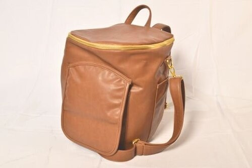 Sassy Caddy: Leather Back Pack - Honey Brown