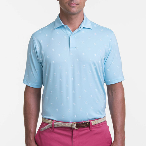 Fairway & Greene: Men's USA Whale-of-a-Tail Print Jersey Polo