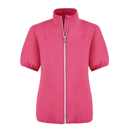 Daily Sports: Women's Mia Short Sleeve Wind Jacket - Fruit Punch Red