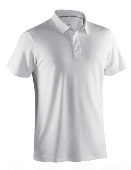 Abacus Sports Wear: Men's High-Performance Golf Polo - Clark (White, Size: X-Large) SALE
