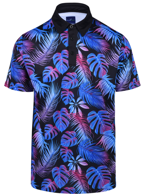 Electric Jungle Mens Golf Polo Shirt by ReadyGOLF