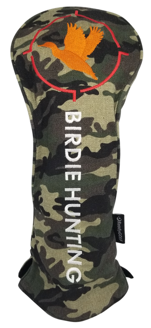 Birdie Hunting CAMO Embroidered Driver Headcover by ReadyGOLF