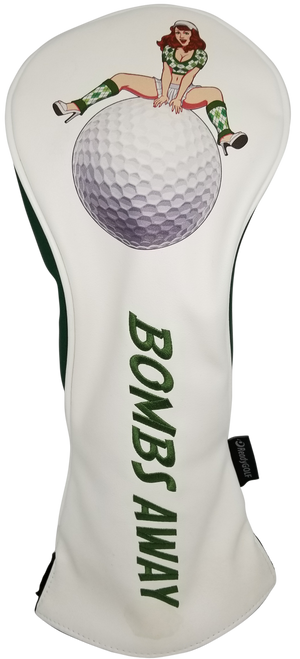 Bombs Away! Embroidered Pinup Driver Headcover by ReadyGOLF