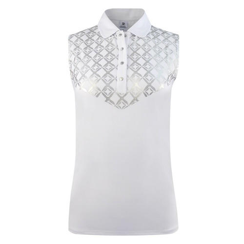 Daily Sports: Women's Caterina Sleeveless Polo - White (Size Small) - SALE
