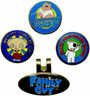 Winning Edge Designs - Crystal Magnetic Hat Clip and Ball Marker - Family Guy