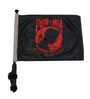 SSP Flags: 11x15 inch Golf Cart Flag with Pole - POW MIA (Red)