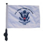 SSP Flags: 11x15 inch Golf Cart Flag with Pole - Retired Coast Guard