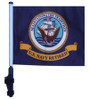 SSP Flags: 11x15 inch Golf Cart Flag with Pole - Retired Navy