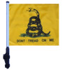 SSP Flags: 11x15 inch Golf Cart Flag with Pole - Don't Tread On Me