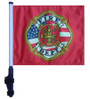SSP Flags: 11x15 inch Golf Cart Flag with Pole - Fire Department
