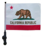 SSP Flags: 11x15 inch Golf Cart Flag with Pole - State of California