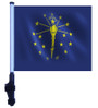 SSP Flags: 11x15 inch Golf Cart Flag with Pole - State of Indiana