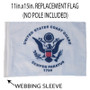 SSP Flags: 11x15 inch Golf Cart Replacement Flag - Coast Guard