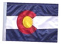SSP Flags: 11x15 inch Golf Cart Replacement Flag - Colorado