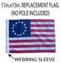 SSP Flags: 11x15 inch Golf Cart Replacement Flag - Betsy Ross