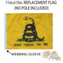 SSP Flags: 11x15 inch Golf Cart Replacement Flag - Don't Tread on Me
