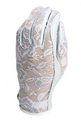 Evertan: Women's Tan Through Golf Glove - Gilded Floral White