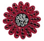 Navika: Swarovski Crystal Ball Marker with Hat Clip - Sunflower (Red)